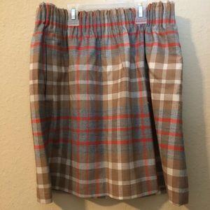 Plaid J Crew Skirt